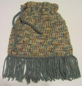 crochet drawstring purse