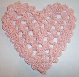 heart crochet hot pad