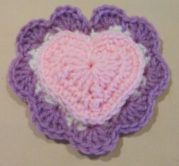 heart crochet pin cushion image 3