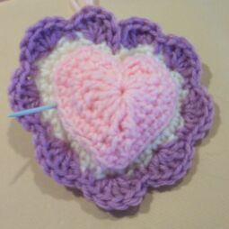 heart crochet pin cushion image 5