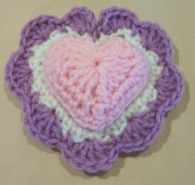 heart crochet pin cushion image 6