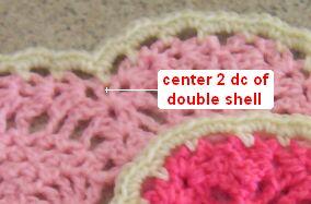 heart crochet hot pad center
