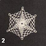 make a crochet snowflake 2