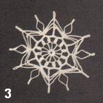 make a crochet snowflake 3
