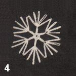 make a crochet snowflake 4