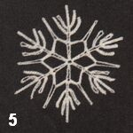 make a crochet snowflake 5