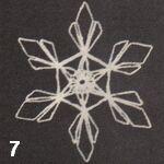 make a crochet snowflake 7