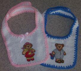 terrycloth baby bibs