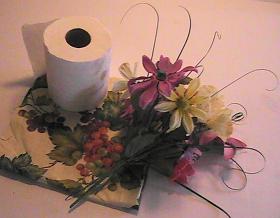 toilet paper roll flower vase 1