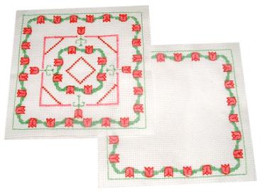 biscornu cross stitch Christmas ornament 1