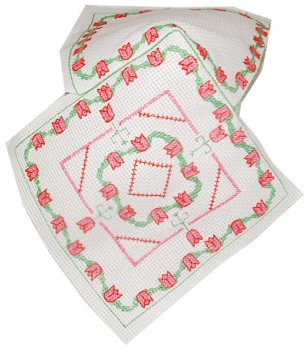biscornu cross stitch Christmas ornament 2