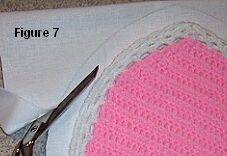 crochet sweetheart pillow trim fabric