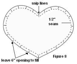 crochet sweetheart pillow snip curves