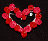 clay rose wreath pin image 10