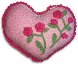 crochet sweetheart pillow