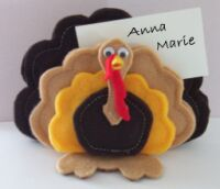 turkey felt placecard holder