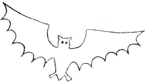 Free Halloween Bat Template 1